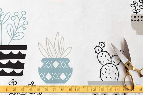 Cacti & Succulents Fabric
