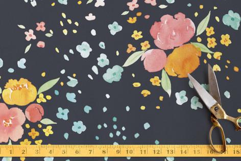 Watercolor Blossoms Fabric