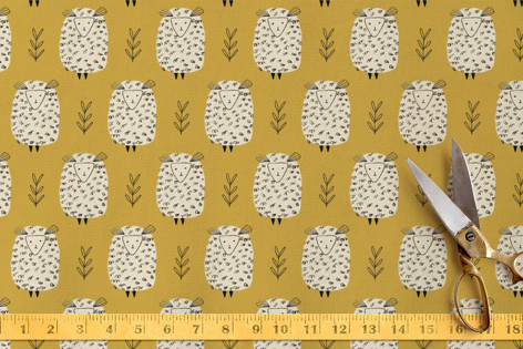 Baa Baa Cream Sheeps Fabric