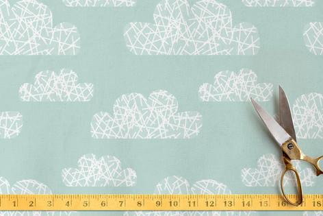 Hashmark Clouds Fabric