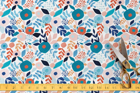 Abstract Bouquet Fabric