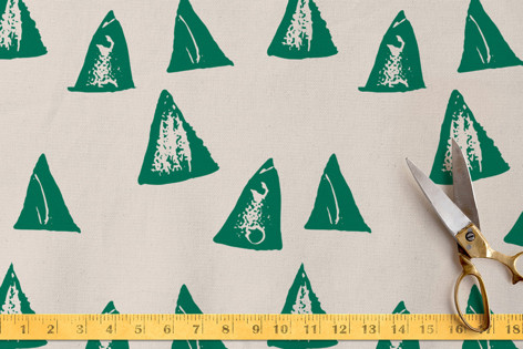 rustic triangles Fabric