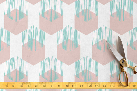Tropics: Slipping Hexagons Fabric