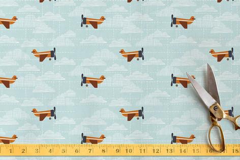 Planes, planes, planes Fabric