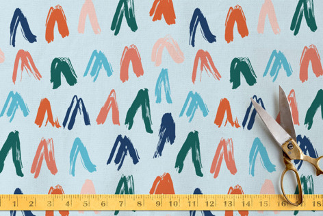 brushed triangles Fabric
