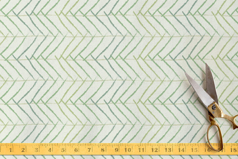 Minty Herring Fabric