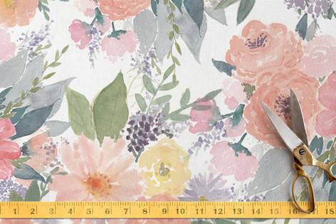 Bold Watercolor Floral Fabric