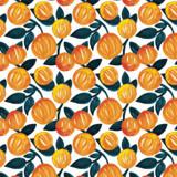 Watercolor Orange Garden