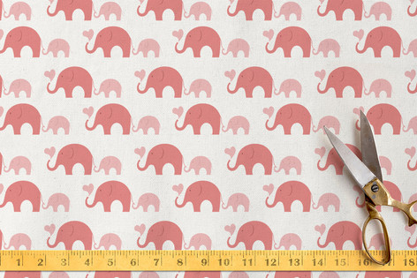 Elephant Heart Fabric