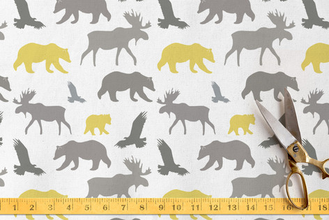 Moose, Bear, Eagle Fabric