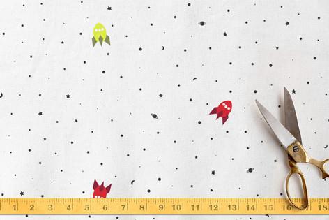 Rockets Away Fabric