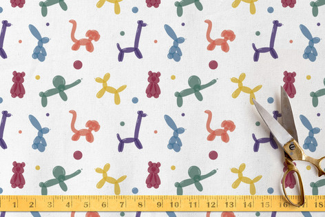 Bold Balloon Animals Fabric