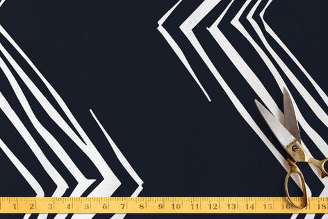 Diagonals in Chevron Fabric