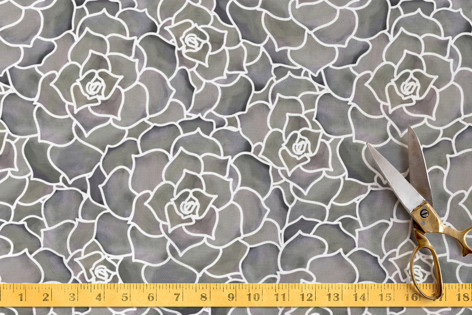 Evening Succulent Vibe Fabric