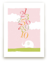 Numbers Elephant Art Prints