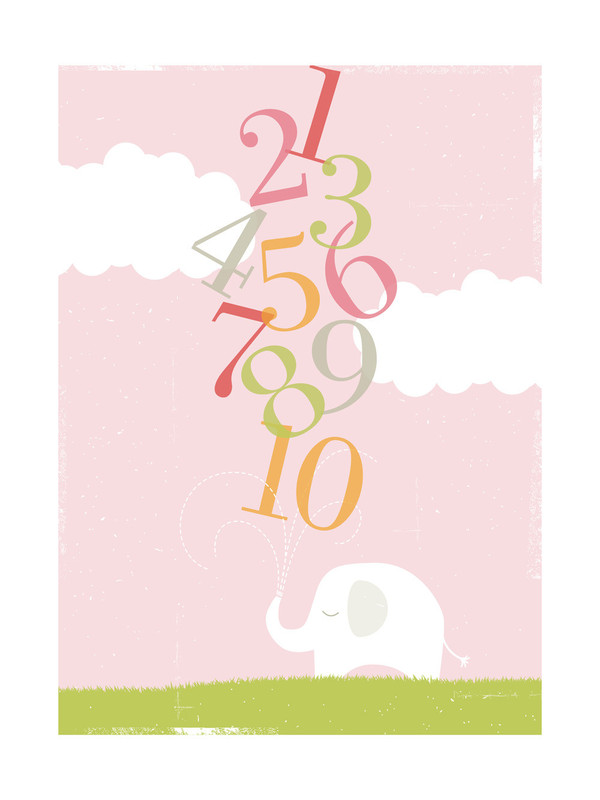 Numbers Elephant | Limited Edition Print by Kristie Kern