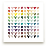 Paper Hearts Art Prints