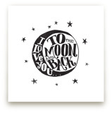 ...to the moon and back Art Prints