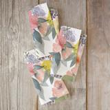 Bold Watercolor Floral Napkins