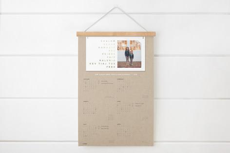 Peace Sign Foil-Pressed Hanging Bar Calendar