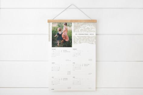 Mandala Lace Hanging Bar Calendar