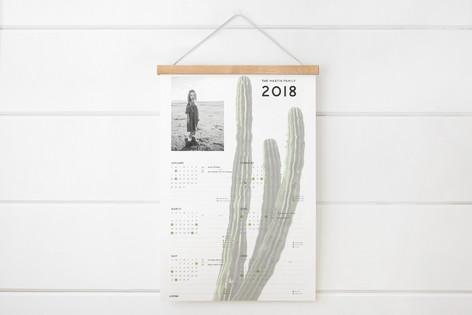 Cactus Time Hanging Bar Calendar