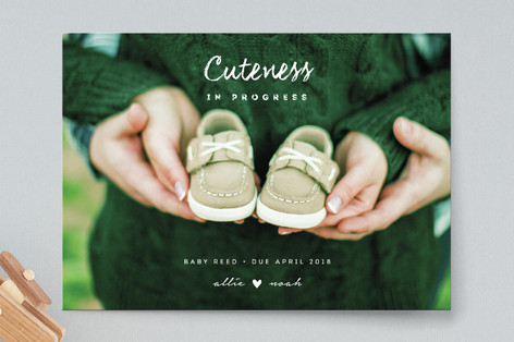 Cuteness In Progress Pregnancy Announcements