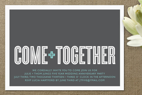 Come together anniversary party invitations by wau minted come together anniversary party invitations stopboris Gallery