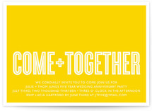 Come Together Anniversary Party Invitations Cards