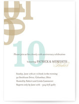 Forever Anniversary Party Invitations Cards