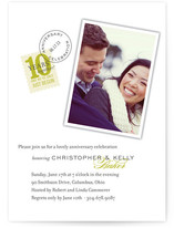Sealed with a Kiss Anniversary Party Invitations Cards
