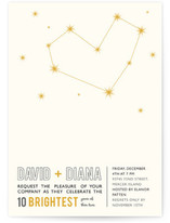 Stargazing Anniversary Party Invitations Cards