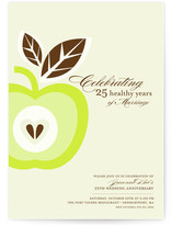 Core of My Heart Anniversary Party Invitations Cards