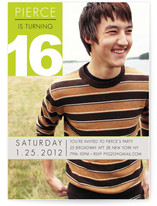 Element of a 16th Birthday Invitation Party Invitations