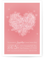Pink Heart Party Invitations