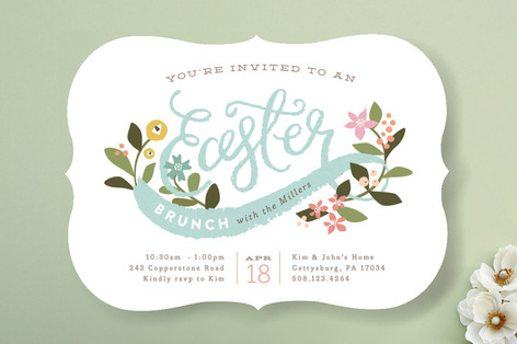 Easter Bouquet Party Invitations