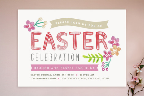 Painted Easter Party Invitations