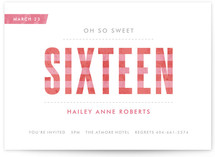 Oh So Sweet Sixteen Party Invitations