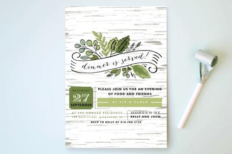Birch Bark Woods Party Invitations