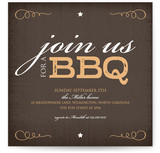 Rustica BBQ Party Invitations