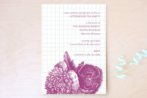 Bibliotheque Party Invitations