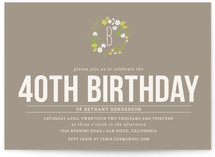 Wooded Blooms Party Invitations