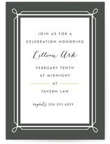 Lattice Party Invitations