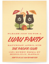 Tiki Luau Party Invitations