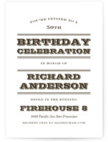 Sophisticated Chevron Party Invitations