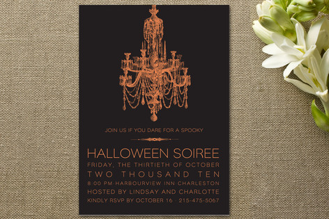 Halloween Chandelier Party Invitations