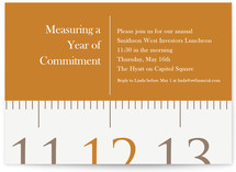 Measuring Tape Party Invitations