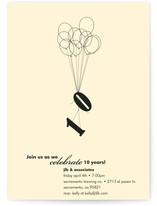 Ten Balloons Party Invitations