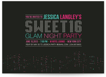 Glam Night in the City Party Invitations