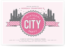 16 in the City Party Invitations